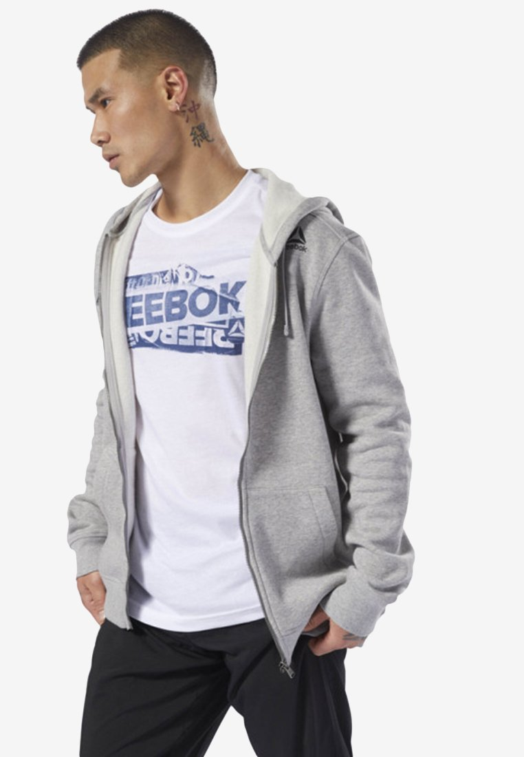 Reebok ELEMENTS FULL-ZIP HOODIE - veste en sweat zippée grey