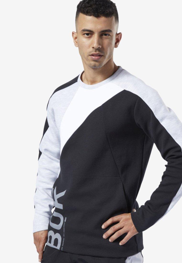 Reebok - ONE SERIES TRAINING COLORBLOCK SWEATSHIRT - Sweatshirt - black