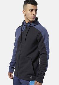 Reebok - ONE SERIES TRAINING COLORBLOCK HOODIE - Zip-up hoodie - black - 0