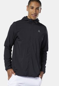 Reebok - TRAINING ESSENTIALS WOVEN JACKET - Giacca sportiva - black - 2