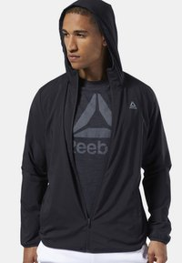 Reebok - TRAINING ESSENTIALS WOVEN JACKET - Giacca sportiva - black - 0