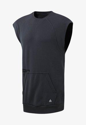 COMBAT WASHED SLEEVELESS CREW - Sweatshirts - grey