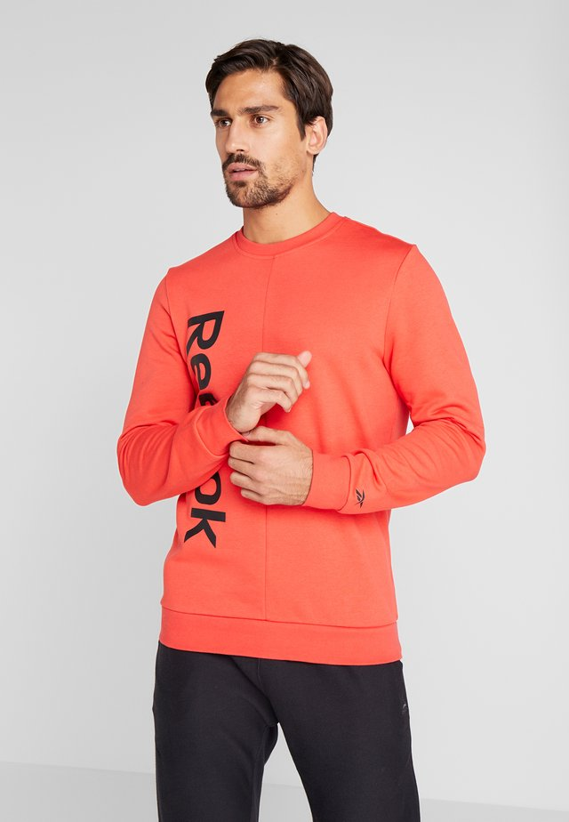 ELEMENTS SPORT LONG SLEEVE PULLOVER - Mikina - red