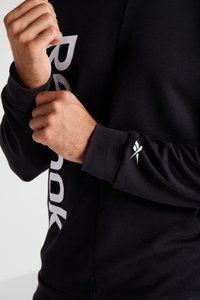 Reebok - ELEMENTS SPORT LONG SLEEVE PULLOVER - Sweater - black - 4