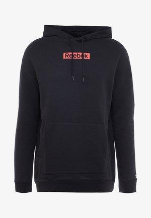 LINEAR LOGO HOOD - Bluza z kapturem - black