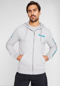 Reebok - SPORT GRAPHIC HODDIE PULLOVER - Zip-up hoodie - grey - 0