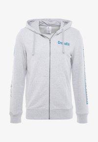 Reebok - SPORT GRAPHIC HODDIE PULLOVER - Zip-up hoodie - grey - 3