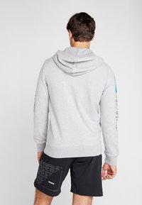 Reebok - SPORT GRAPHIC HODDIE PULLOVER - Zip-up hoodie - grey - 2