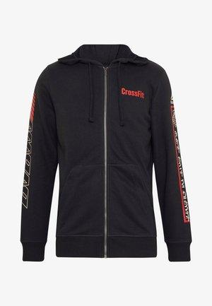 SPORT GRAPHIC HODDIE PULLOVER - veste en sweat zippée - black