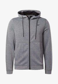 Reebok - WORKOUT READY HOODIE - veste en sweat zippée - grey - 6
