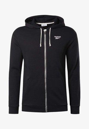 TRAINING ESSENTIALS HOODIE - veste en sweat zippée - black