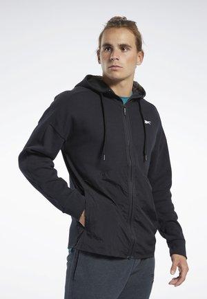 TRAINING SUPPLY HOODIE - Zip-up hoodie - black
