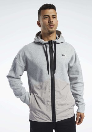 TRAINING SUPPLY HOODIE - Bluza rozpinana - grey