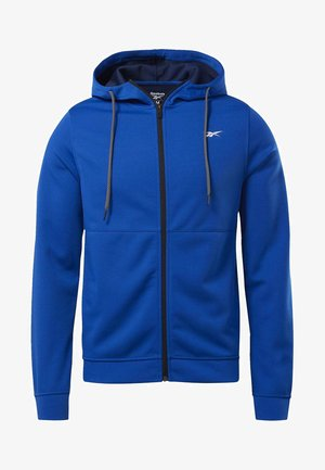 WORKOUT READY HOODIE - Huvtröja med dragkedja - blue