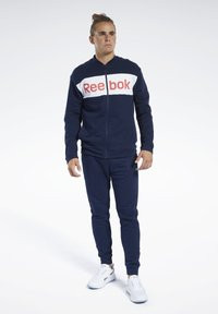 Reebok - TRAINING ESSENTIALS TRACK SUIT - Träningsset - blue - 0