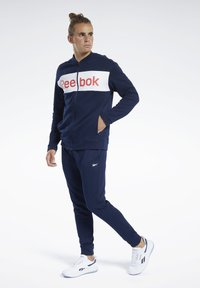 Reebok - TRAINING ESSENTIALS TRACK SUIT - Träningsset - blue - 1