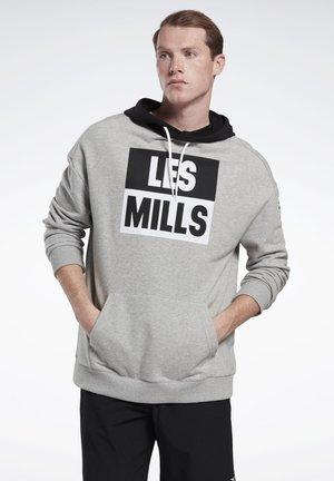 LES MILLS® HOODIE - Kapuzenpullover - grey