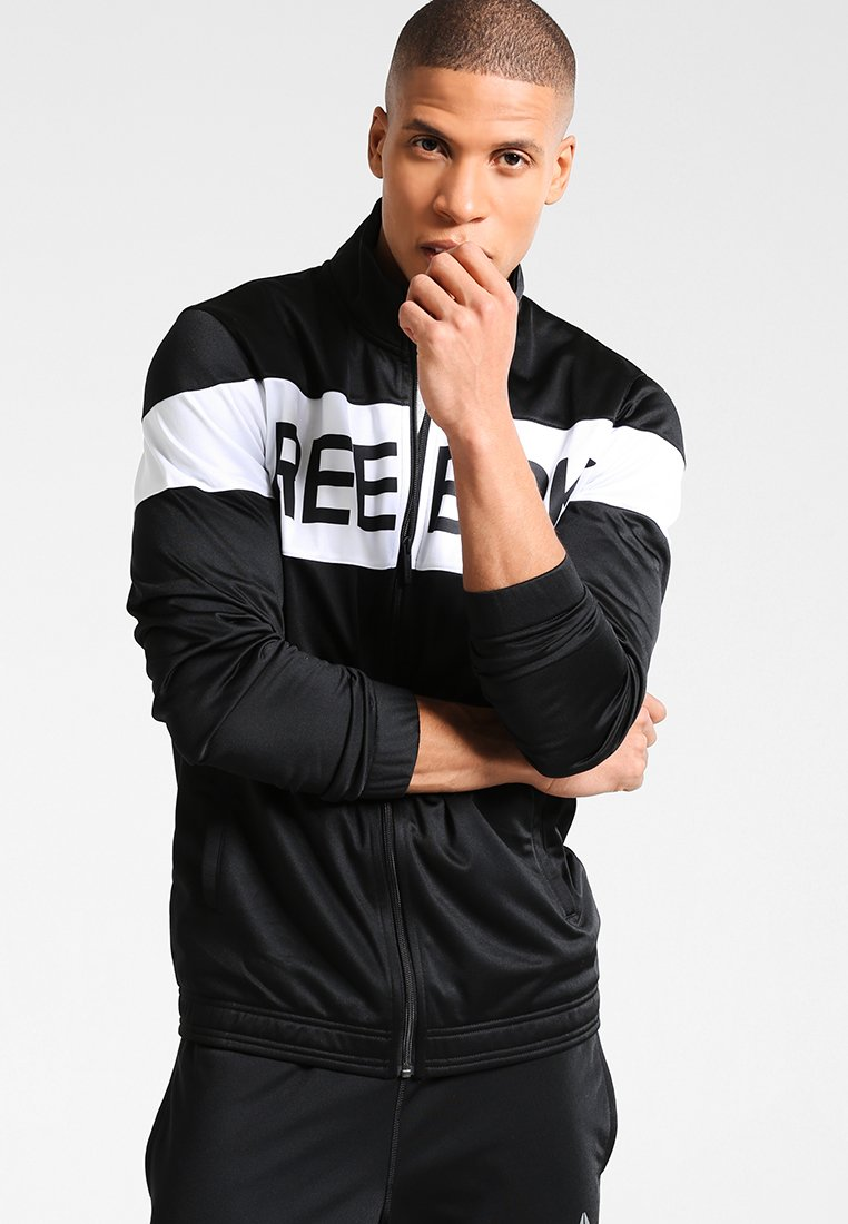 Reebok - CUFFED TRACKSUIT - Tracksuit - black/white