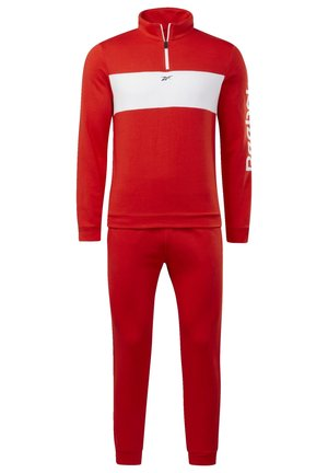 TRAINING ESSENTIALS LINEAR LOGO TRACKSUIT - Tracksuit - red