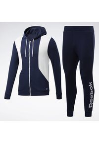 Reebok - TRAINING ESSENTIALS LINEAR LOGO TRACKSUIT - Survêtement - blue - 7