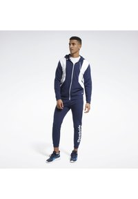 Reebok - TRAINING ESSENTIALS LINEAR LOGO TRACKSUIT - Survêtement - blue - 0