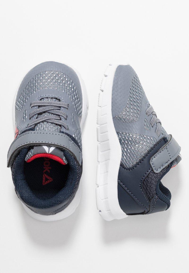 Reebok - RUSH RUNNER ALT - Neutral running shoes - grey/navy/red/whiite
