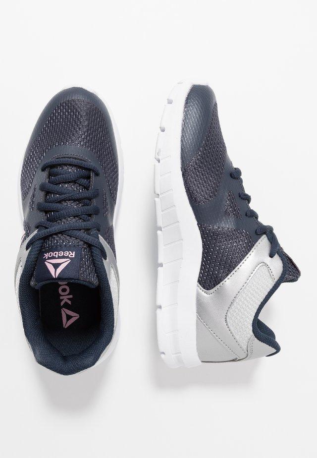 RUSH RUNNER - Zapatillas de running neutras - navy/silver/pink