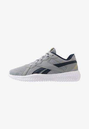 FLEXAGON ENERGY 2.0 - Chaussures d'entraînement et de fitness - grey/yellow/collegiate navy
