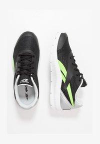 Reebok - RUSH RUNNER 2.0 - Zapatillas de running neutras - black/silvermetallic/simple green - 1