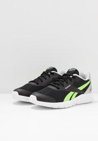 Reebok - RUSH RUNNER 2.0 - Zapatillas de running neutras - black/silvermetallic/simple green - 2