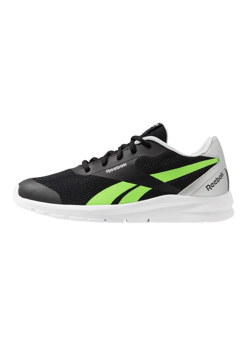 Reebok - RUSH RUNNER 2.0 - Zapatillas de running neutras - black/silvermetallic/simple green