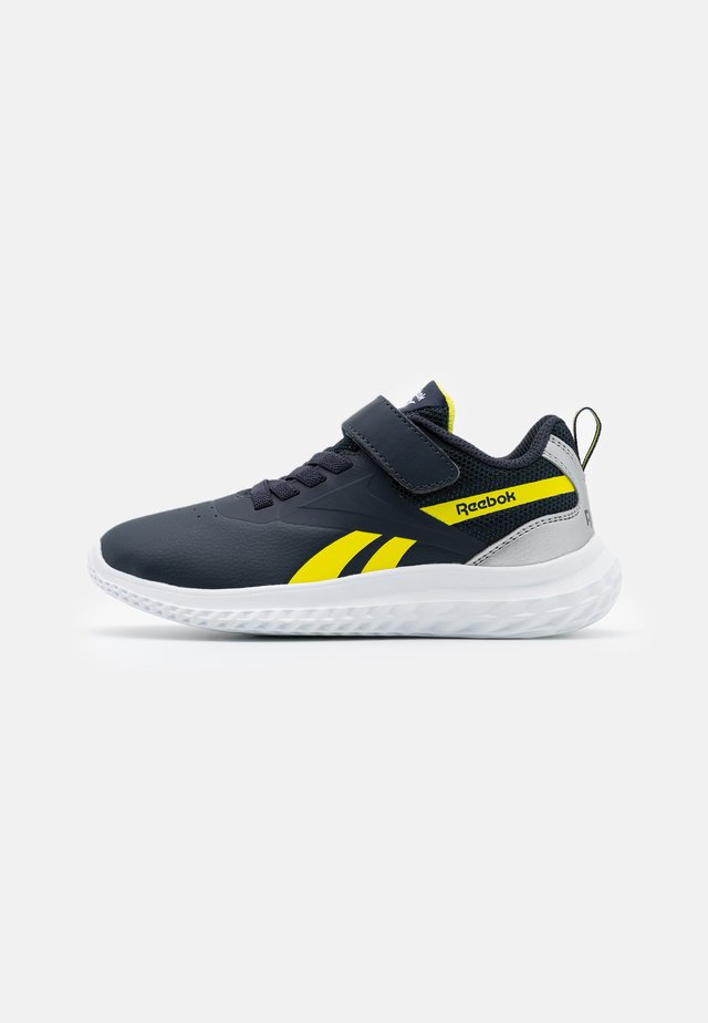 RUSH RUNNER 3.0 UNISEX - Neutral running shoes - colegiate navy/bright yellow/silver metallic