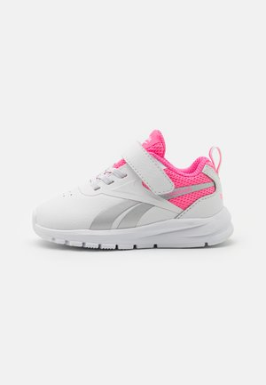 RUSH RUNNER 3.0 UNISEX - Neutral running shoes - white/electro pink/silver metallic