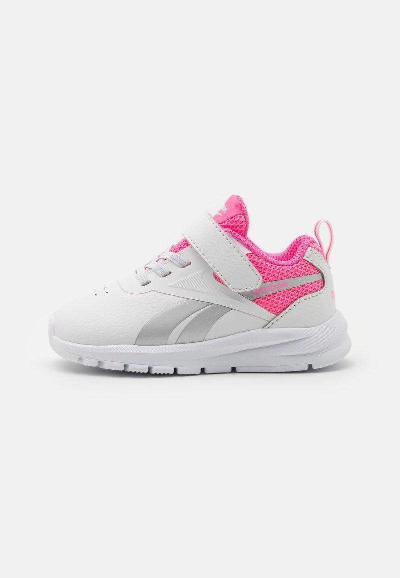 Reebok - RUSH RUNNER 3.0 UNISEX - Neutral running shoes - white/electro pink/silver metallic