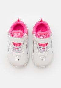 Reebok - RUSH RUNNER 3.0 UNISEX - Neutral running shoes - white/electro pink/silver metallic - 3