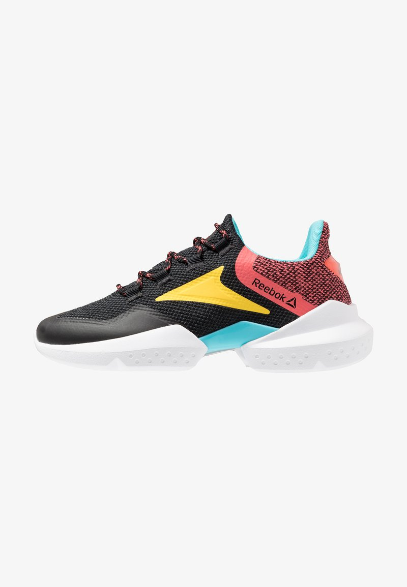 Reebok - SPLIT FUEL - Laufschuh Neutral - black/grey/rose/yellow/blue