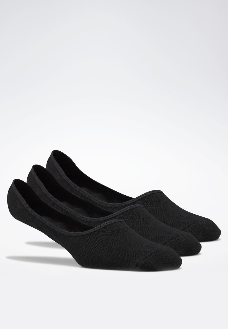 Reebok - ACTIVE FOUNDATION INVISIBLE SOCKS 3 PAIRS - Socquettes - black