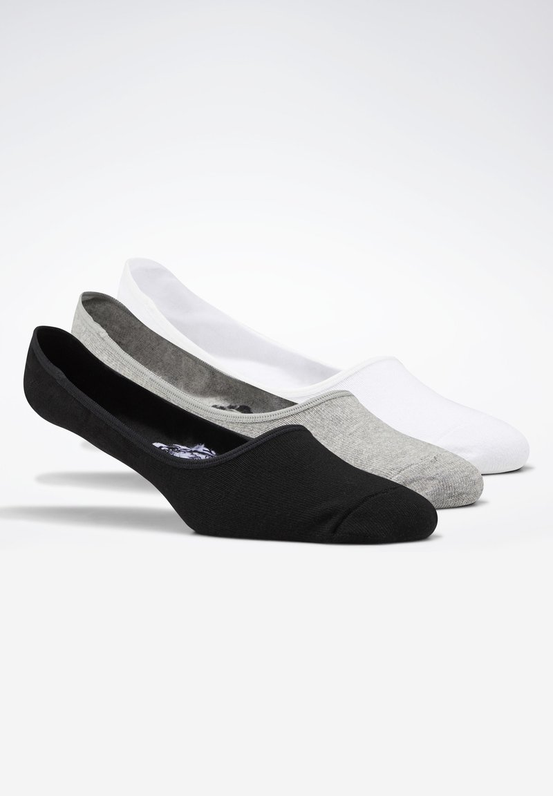 Reebok - ACTIVE FOUNDATION INVISIBLE SOCKS 3 PAIRS - Chaussettes - black