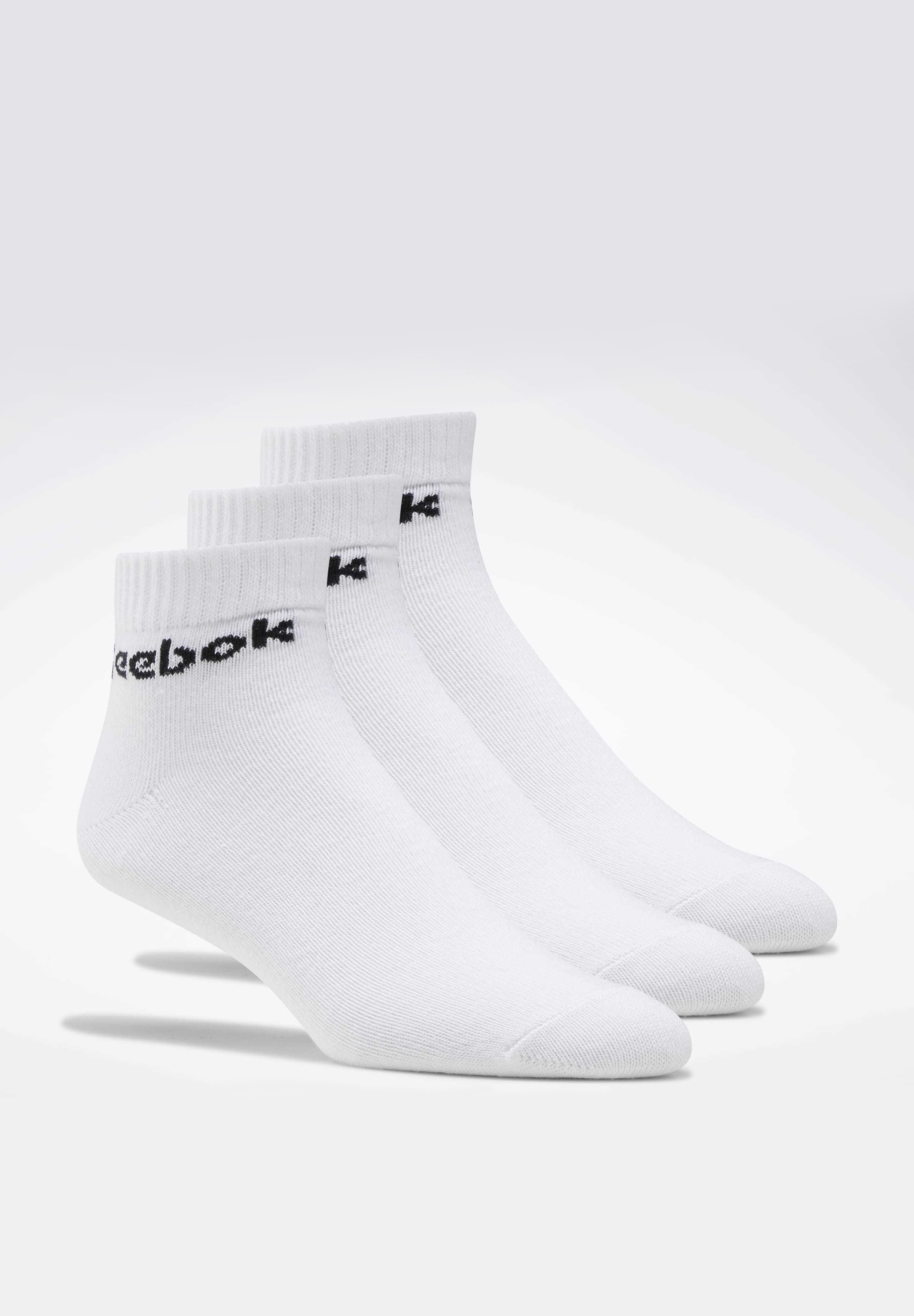 Reebok ACTIVE CORE ANKLE SOCKS 3 PAIRS - Skarpety - white