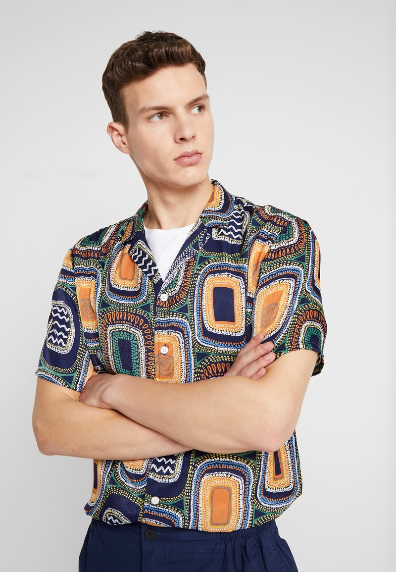 RVLT - WITH ALL-OVER PRINT - Camicia - navy
