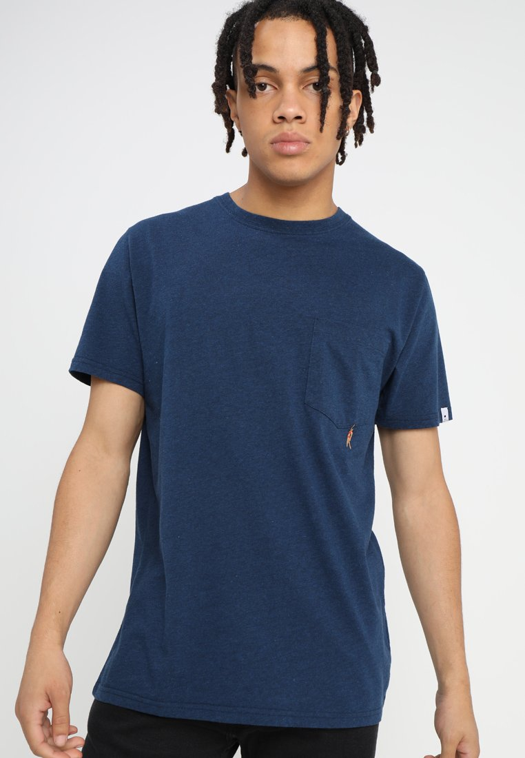 RVLT - HAN - T-shirts med print - navy melange