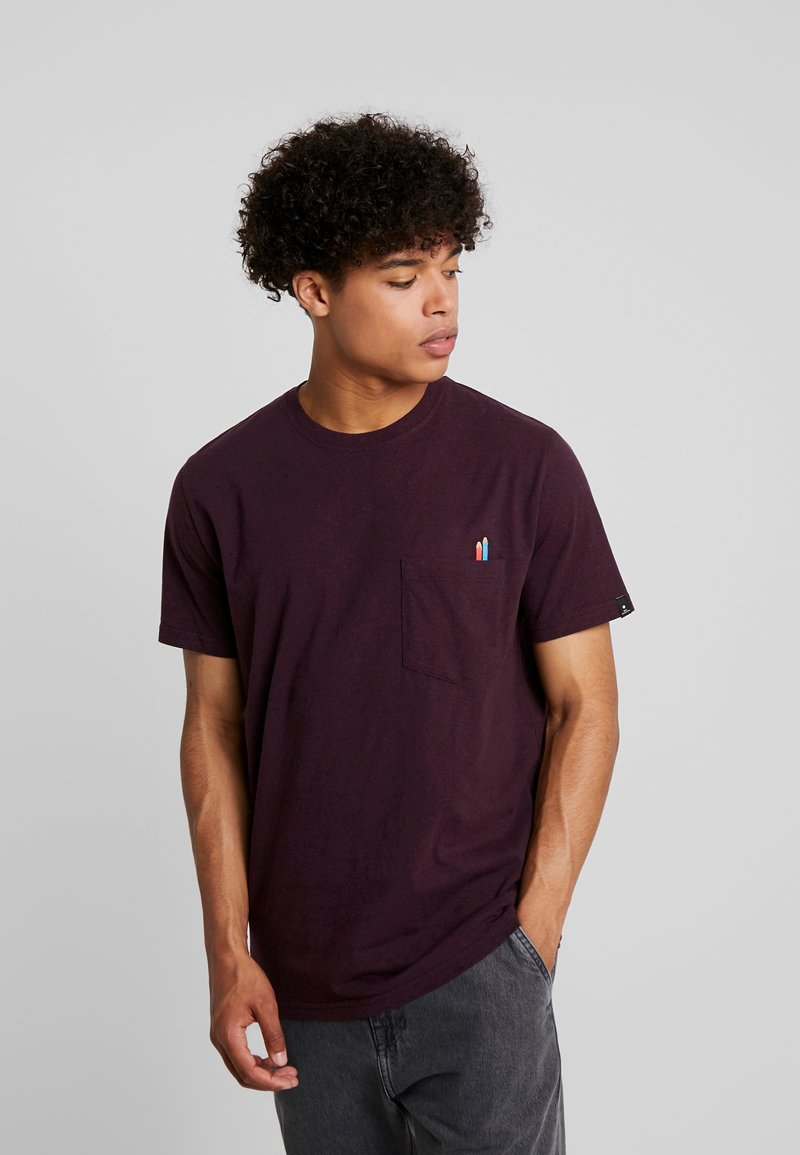 RVLT - Print T-shirt - bordeaux