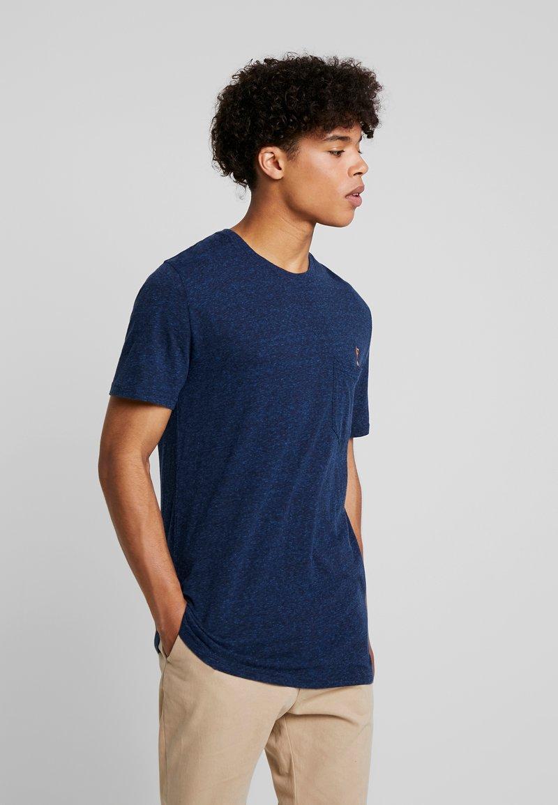 RVLT - PEN - T-Shirt print - navy melange