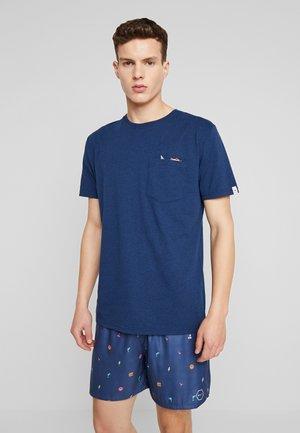 T-shirt z nadrukiem - navy melange