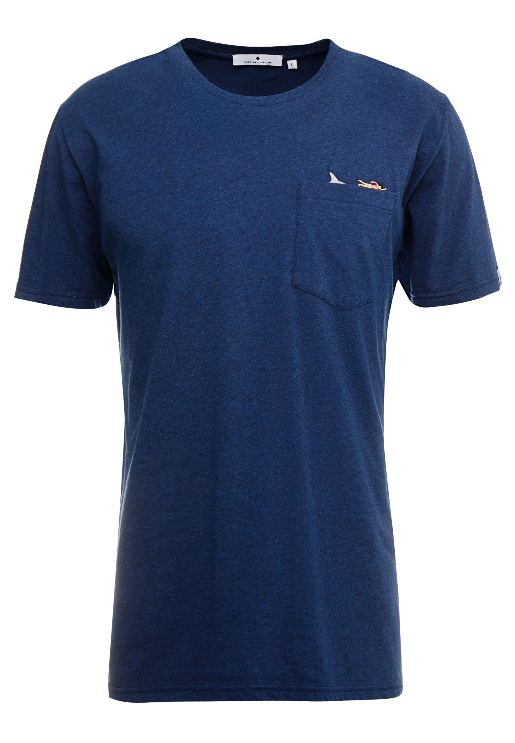 Rvlt T-shirt Imprimé - Navy Melange