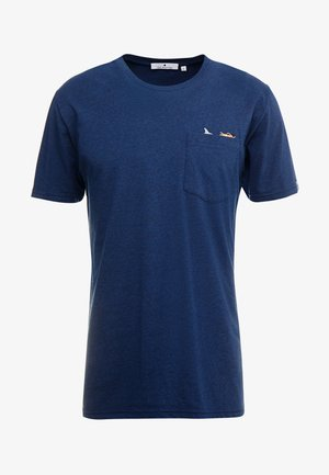 T-shirt print - navy melange