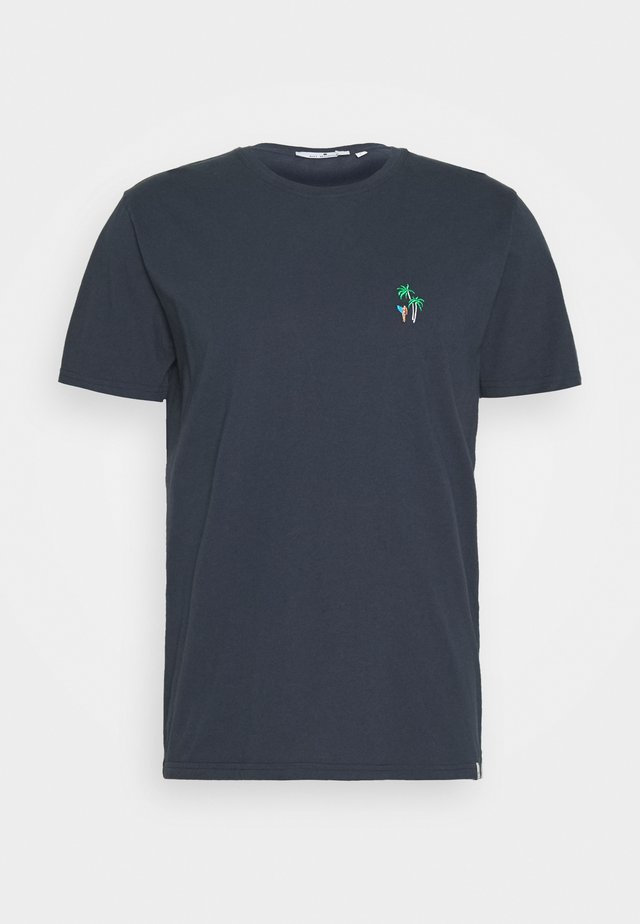 WITH EMBROIDERY - T-shirt - bas - navy