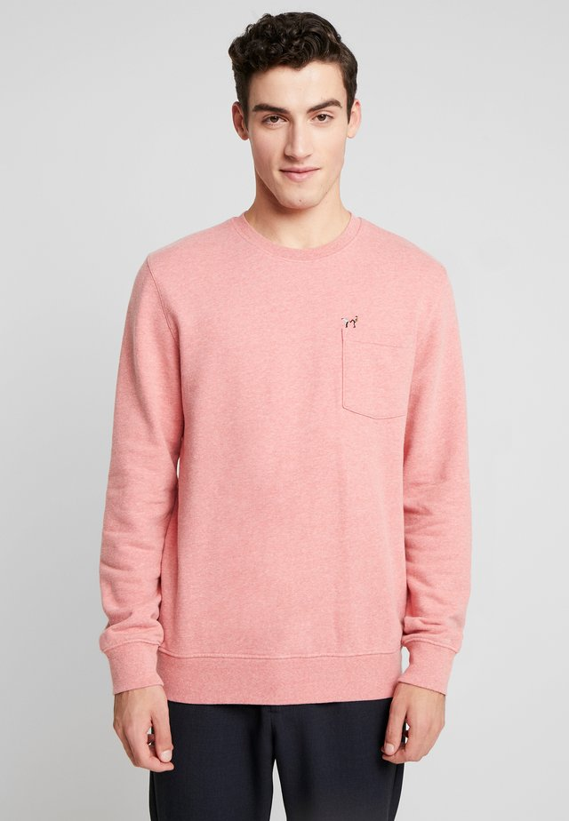 Sweatshirt - red melange