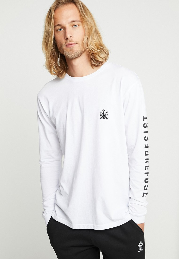 Refuse Resist - ICON OVERSIZED LONGSLEEVE - Long sleeved top - white/black