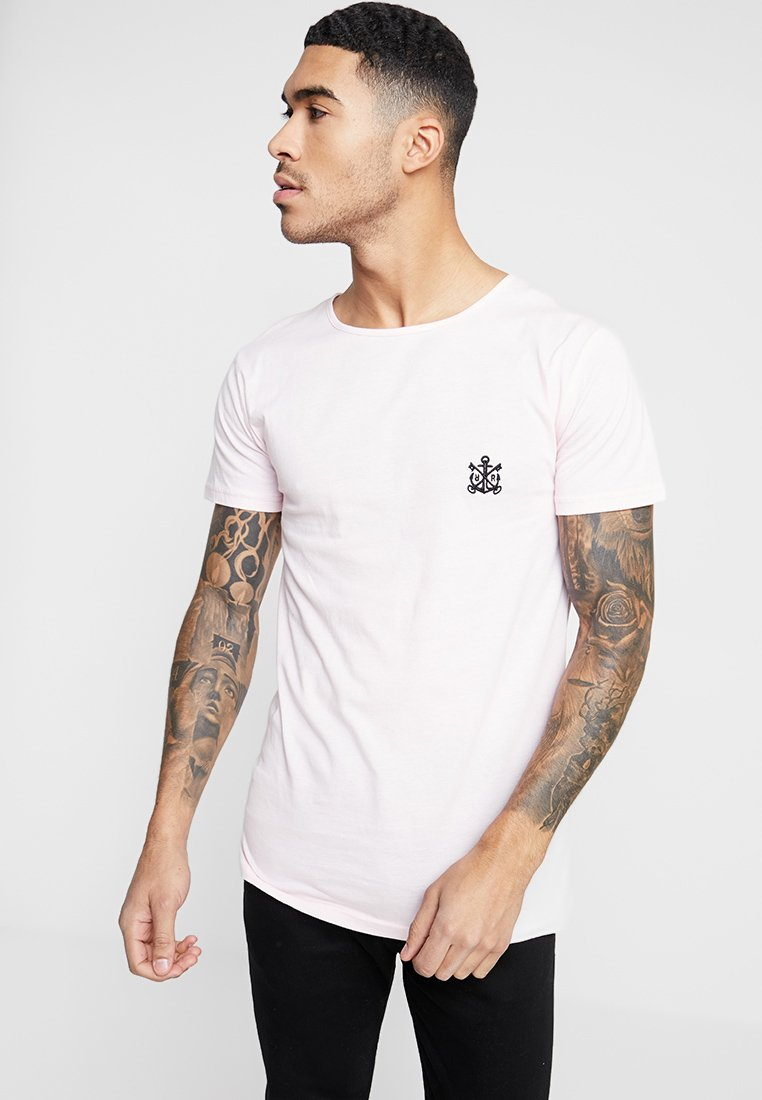 Refuse Resist - ICON WIDE NECK TEE - T-Shirt print - pale pink/black